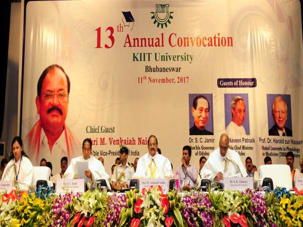 VP Venkaiah Naidu Addresses KIIT Uni Convocation