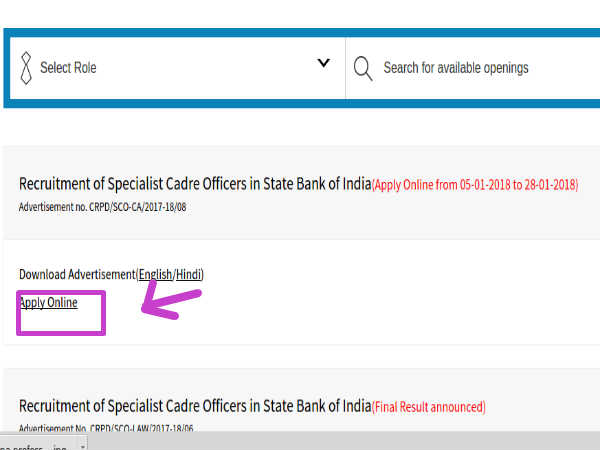 jobs in state bank of india for chartered accountants