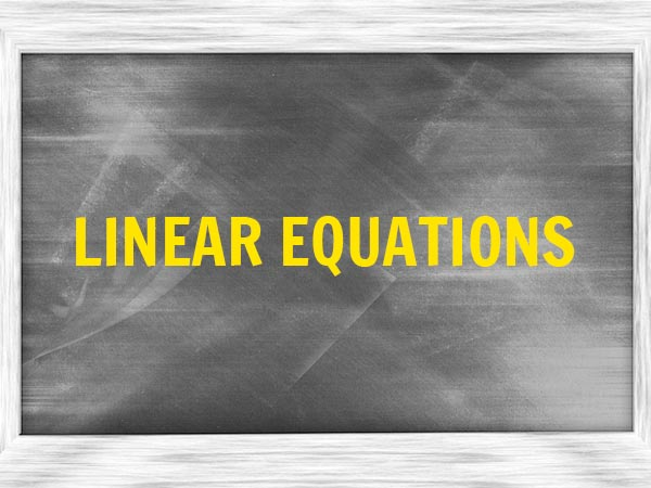 1. Linear Equations