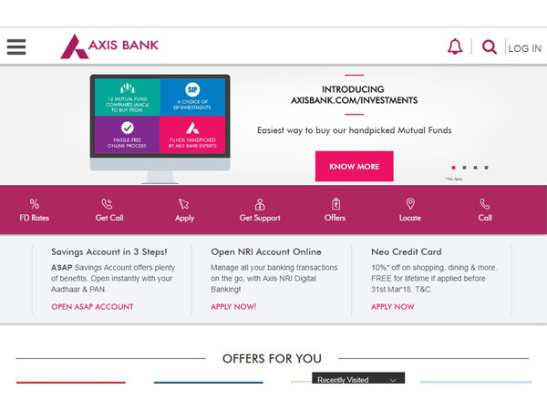 various products of axis bank Axis bank spreads across 2,211 cities and towns, enabling the bank to reach  out to a large cross-section of customers with an array of products and services.