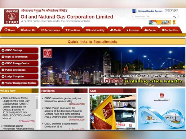 Oil And Natural Gas Corporation Recruitment 2018 For Medical Officers