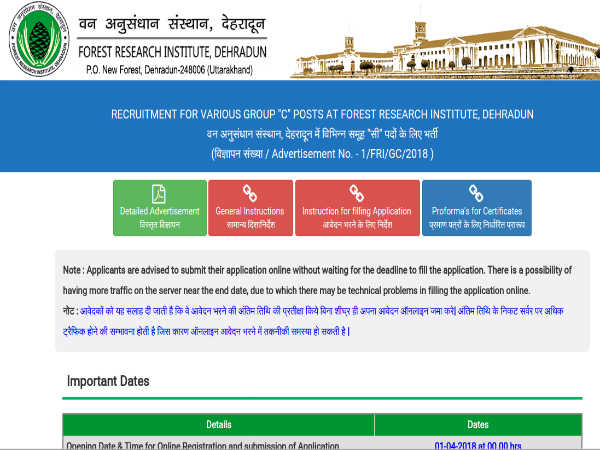 Forest Research Institute Recruitment 2018