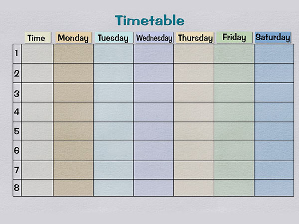 Create A Timetable