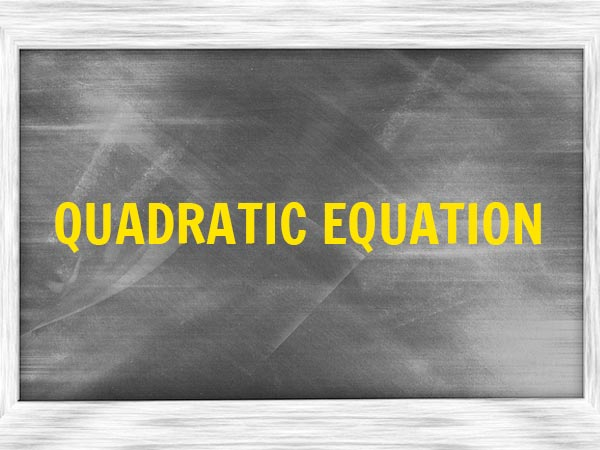 8. Quadratic Equation