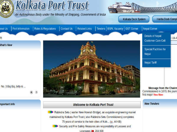 Kolkata Port Trust Recruitment 2018 For Nurses