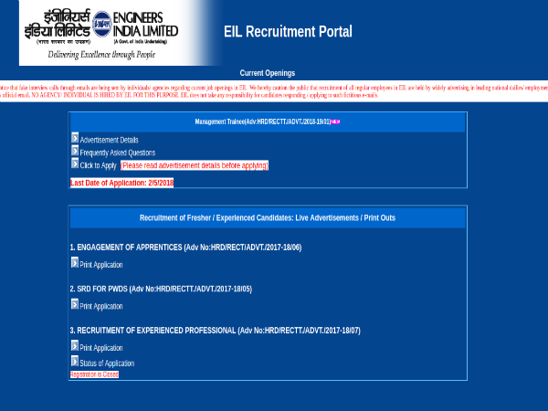 Last 10 Days To Apply For Management Trainee Post In Engineers India Limited (EIL)
