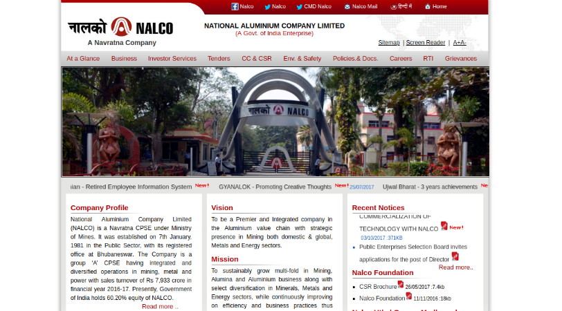 115 Graduate Engineer Recruitment At NALCO