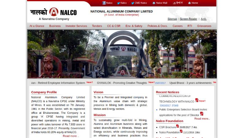 115 Graduate Engineer Vacancies At NALCO