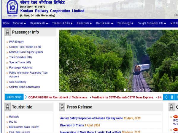 Konkan Railway Recruitment 2018