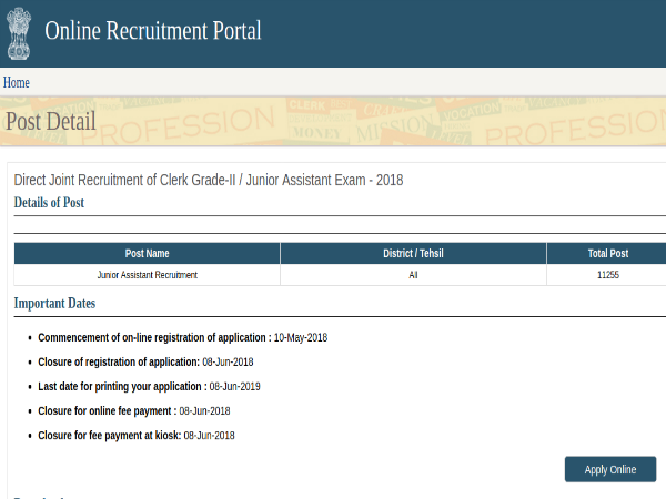 RSMSSB Recruitment: 11,255 Vacancies For Clerks And Junior Assistants