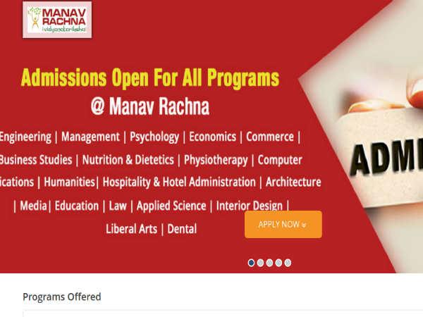 Manav Rachna University Admissions