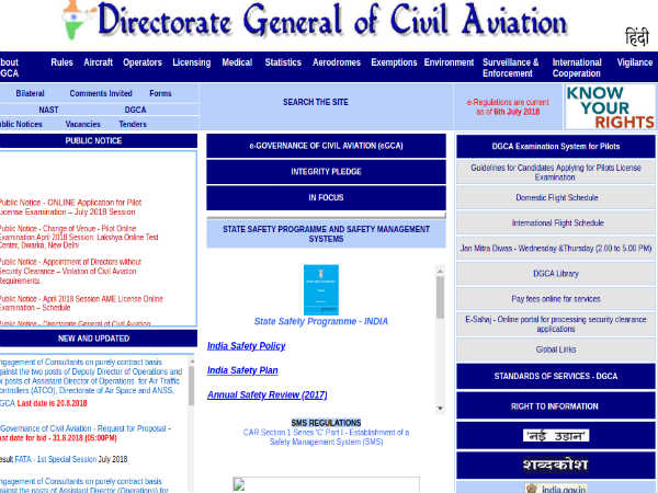 DGCA Recruitment 2018 For Directors