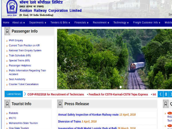 Konkan Railway Corporation Limited Recruitment 2018 For Junior Sales Executives