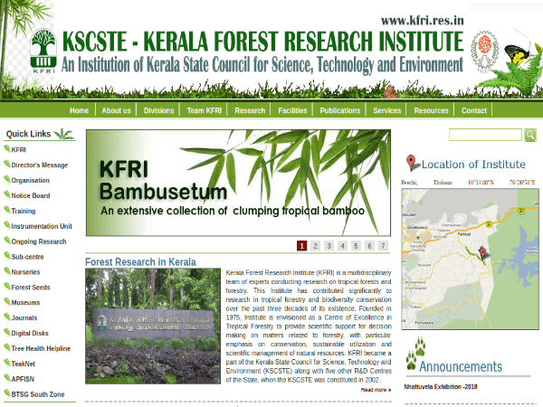 Kerala Forest Research Institute To Recruit Scientists And Junior Scientists