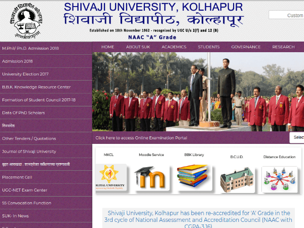 Shivaji University Recruitment 2018