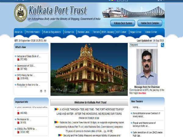 Kolkata Port Trust Recruitment 2018 For Pilots: Earn Up To INR 54500!