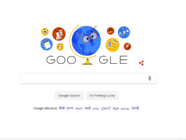Teacher's Day 2018: Google Doodle Pays Tribute