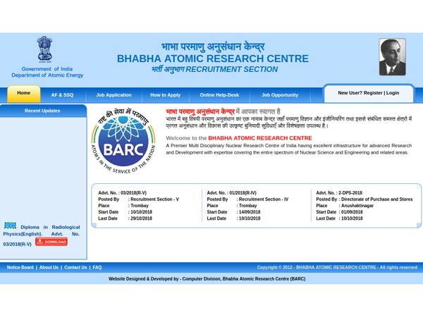 BARC Recruitment 2018: Join Diploma In Radiological Physics And Become A Medical Physicist