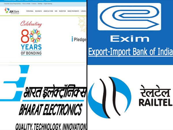 Top Government Jobs 2018 On Oct 10: Railtel, EXIM, NLC, Jammu And Kashmir Bank And BEL