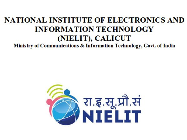 NIELIT Recruitment 2018