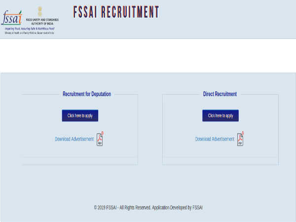 FSSAI Recruitment 2019 For Admin Officer