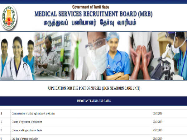 Tamil Nadu Medical Services Recruitment