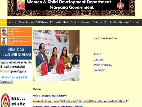 Haryana WCD Recruitment 2019
