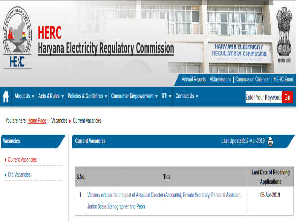 HERC Recruitment 2019 For Peons, Stenos And Assistants; Apply Before April 05
