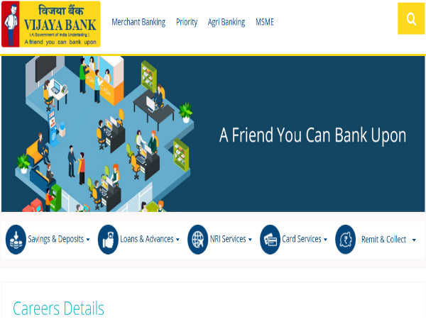 Vijaya Bank Recruitment 2019: 432 Posts
