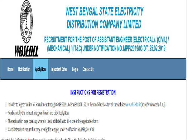 WBSEDCL Recruitment 2019: Asst. Engineer