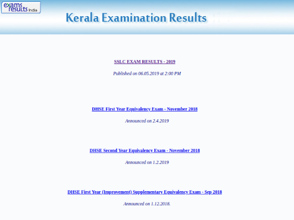 Kerala Plus Two Result 2019 Soon
