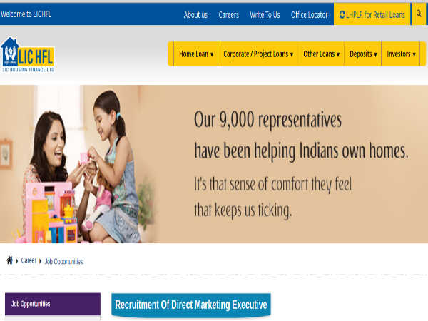LIC HFL Recruitment 2019 For Marketing Executives. Earn Up To INR 20,000 Per Month