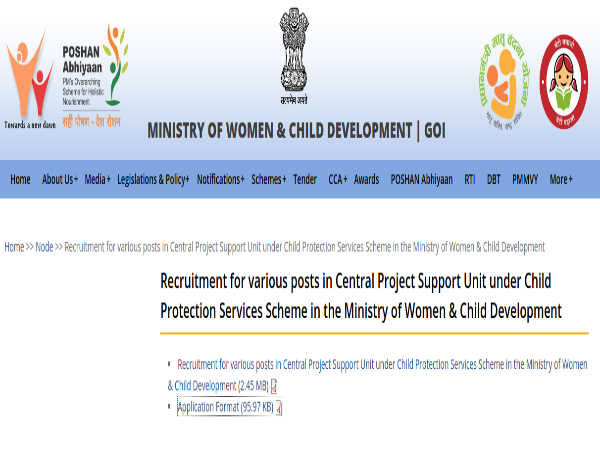 MWCD Recruitment 2019 For Multiple Posts