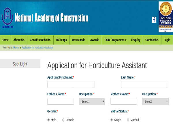 NAC Recruitment 2019: Horti Assistants