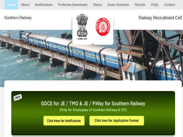 Southern Railway Recruitment: JE Posts