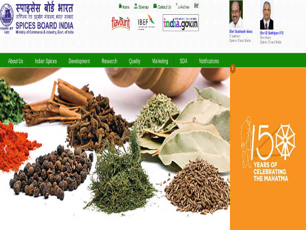 Spices Board of India Recruitment 2019