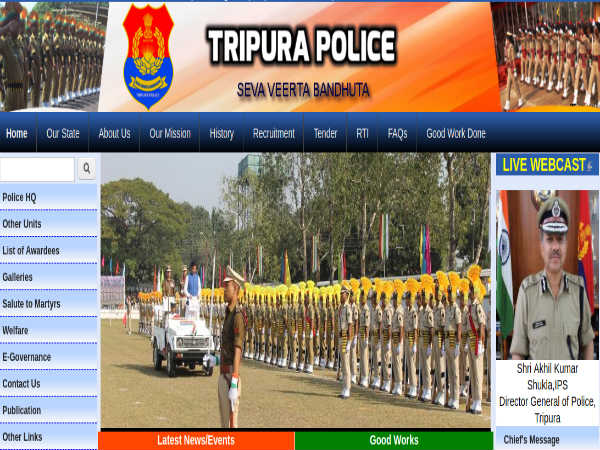 Tripura Police Recruitment 2019 For 1,488 Riflemen (GD/Tradesmen); Earn Up To Rs. 24,000 Per Month