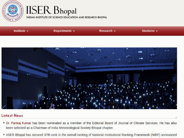 Indian Institutes of Science Education and Research (IISER), Bhopal
