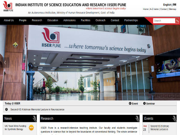 Indian Institutes of Science Education and Research (IISER), Pune