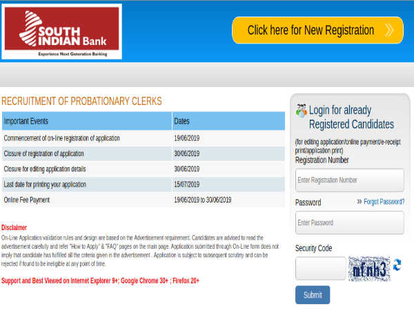South Indian Bank Recruitment 2019 For 385 Probationary Clerks; Earn Up To Rs. 31,540 Per Month