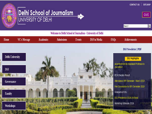 Delhi School Of Journalism Recruitment