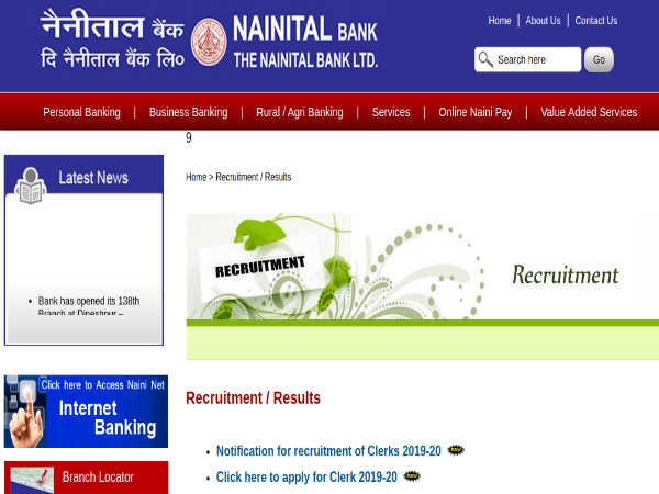 NAINITAL Bank Recruitment: 100 Clerks