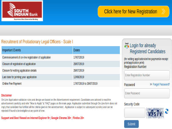 South Indian Bank Recruitment: Apply Online For Probationary Legal Officers Post Before July 28