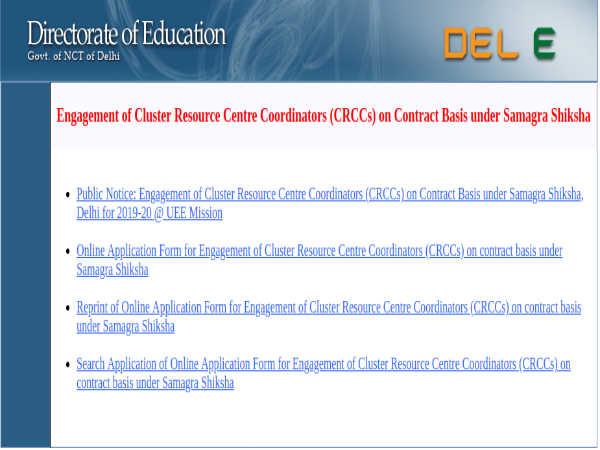 SSA Delhi Recruitment 2019: 162 CRCCs