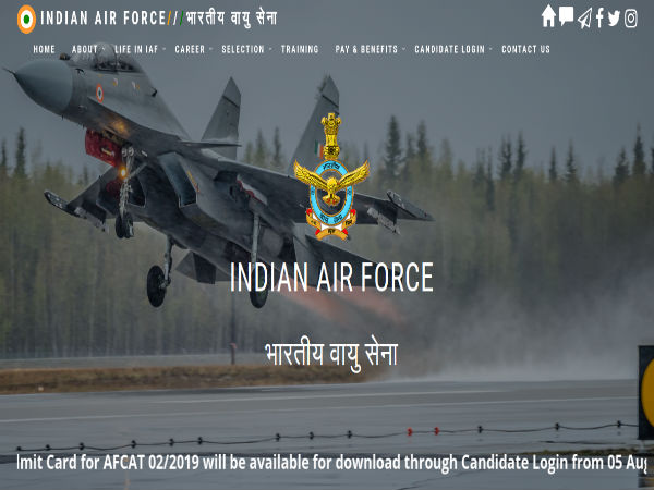 AFCAT Admit Card 2019 Released