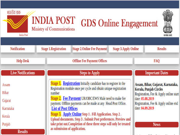 India Post Recruitment 2019: 7,429 GDS