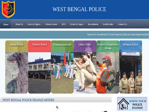 WB Police Recruitment For 668 SI Posts