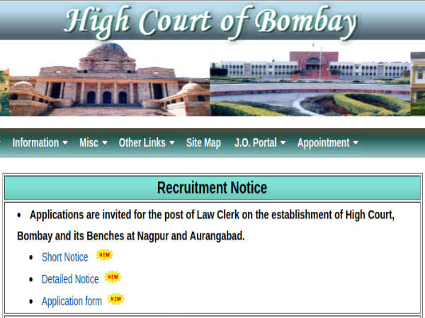 Bombay High Court Recruitment: 51 Clerks