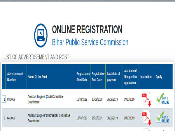 BPSC AE: Register Online For Asst. Engineers (Civil/Mechanical) Post Before September 26