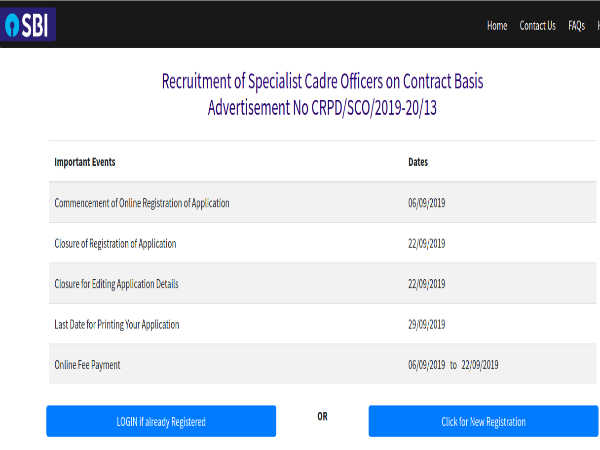 SBI Recruitment: SCO Contract Positions